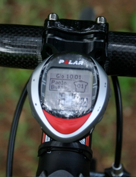 Polar's CS400 is a combined bike computer and heart rate monitor.