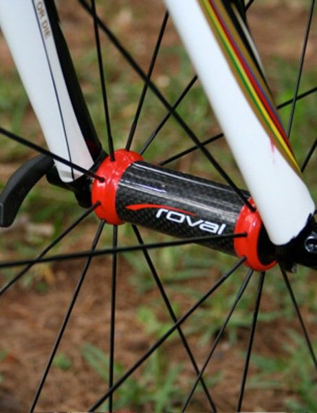 Roval front hubs like these usually feature on Rapide SL wheels, not Rapide Stars.