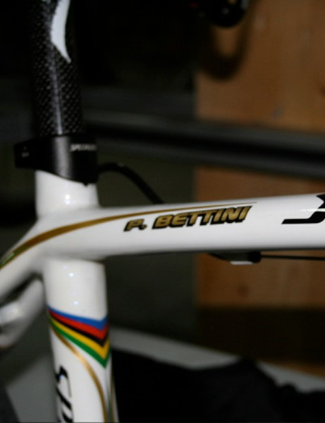 Not many riders have their names written in gold!