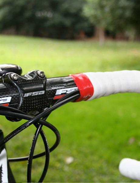 FSA's OS-115 stem comes with a carbon front cap.