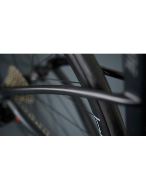 Curved seatstays for increased comfort