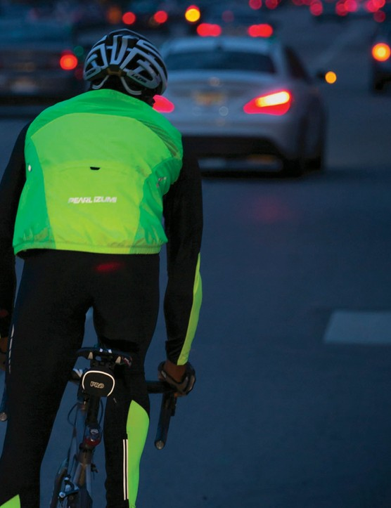 Hi vis clothing will help you to be seen in poor weather