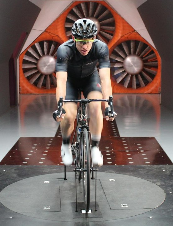 Pearl Izumi took pro rider Daniel Holloway to the A2 wind tunnel to test various jersey designs