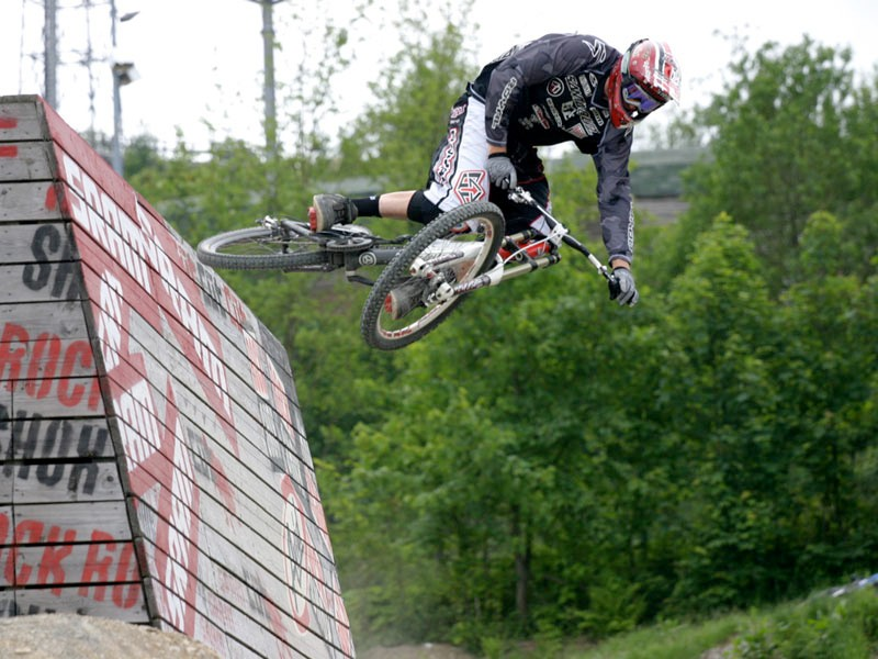 Steve Peat in action