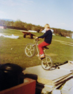 A young Steve Peat on his BMX