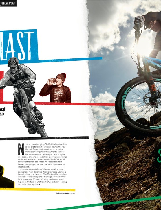 The opening pages of the Peaty feature