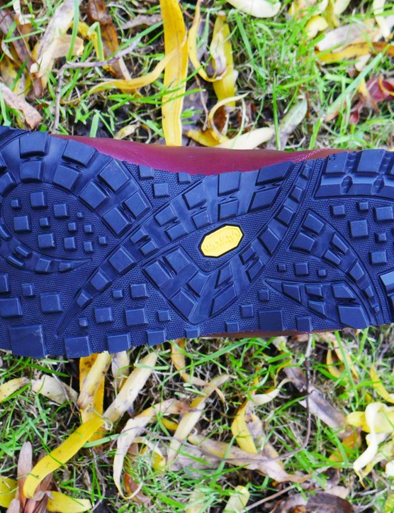 The Vibram sole should provide plenty of grip both on and off the bike