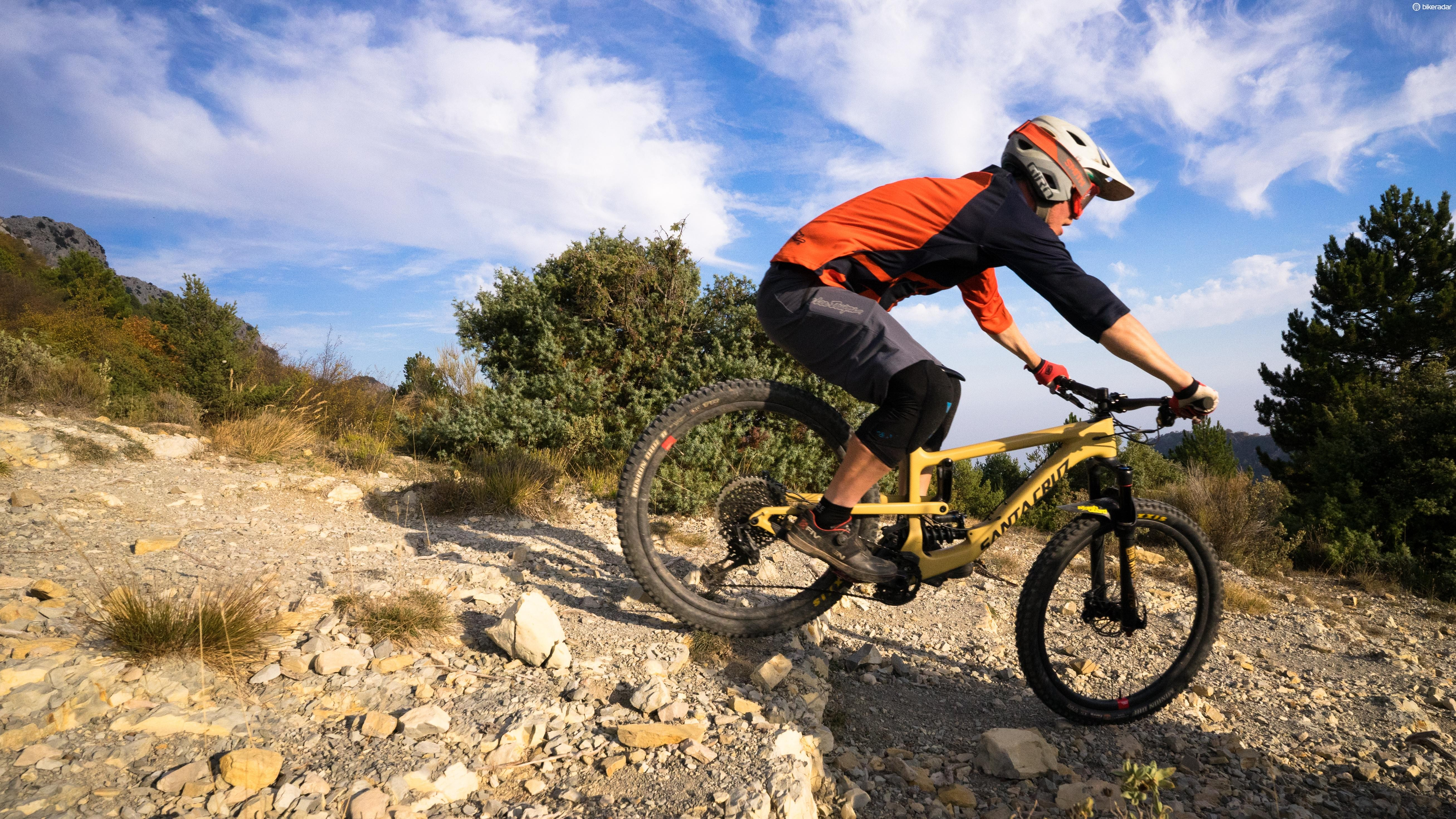 We took the Santa Cruz Nomad CC XX1 Reserve out to Peille, France as one of our Headline Bikes for 2018