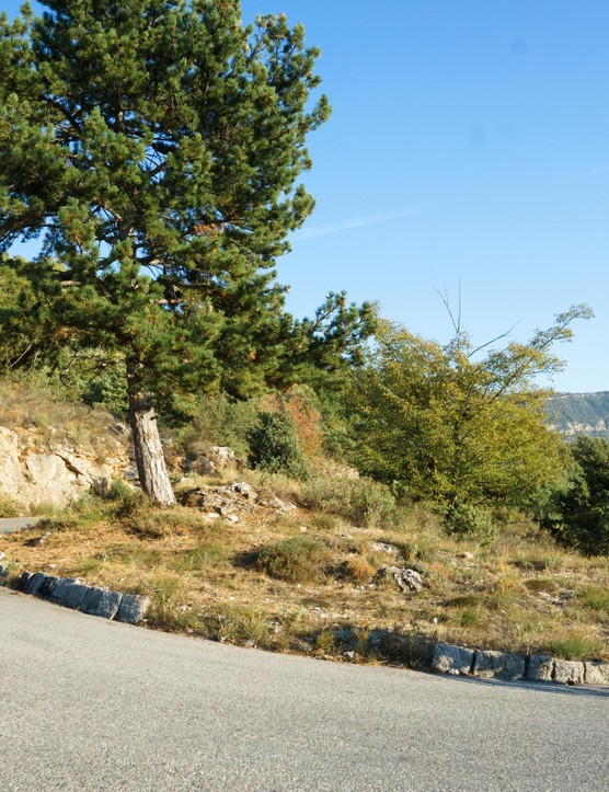 Long swooping switchbacks posed no problems on test