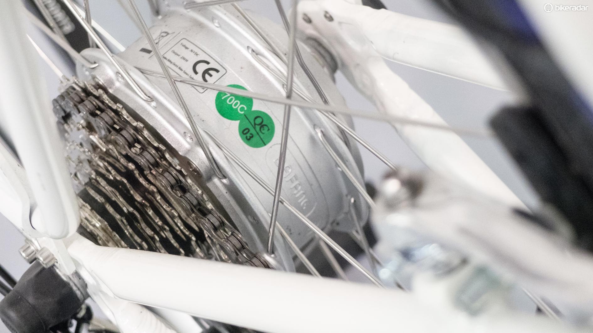 Bafang supplies the 'e' bit of the bike