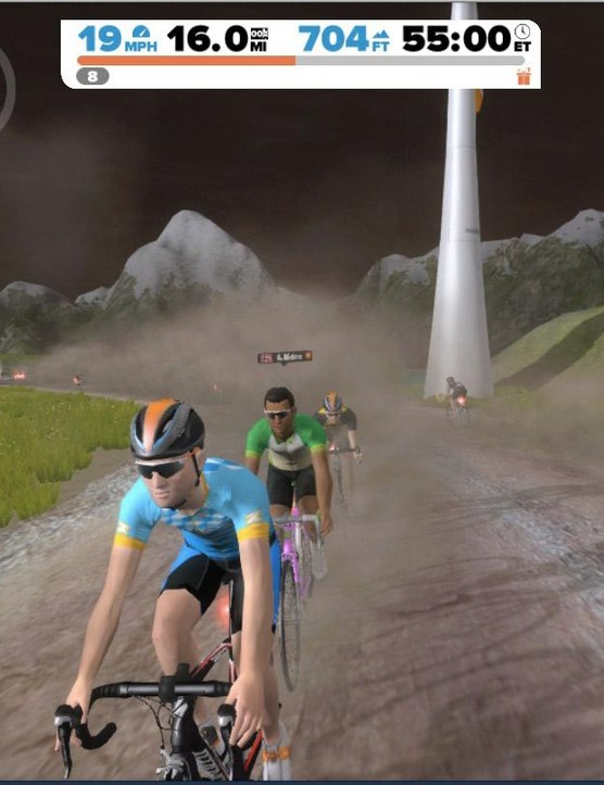 It's easy to ride with others in Zwift