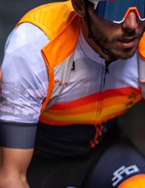 The vest, jerseys and bibshorts are available in two different colourways