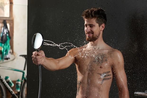 We're not sure if Peter Sagan understands showering