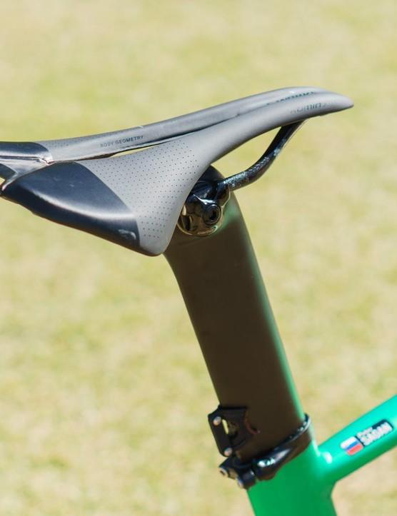 A Romin Evo is Sagan's saddle of choice