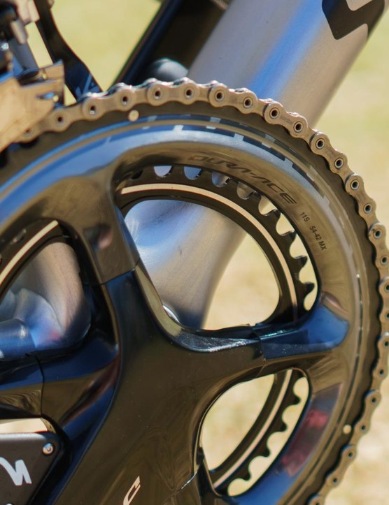 Sagan has opted for a 54-39 chainring combo for the opening crit race
