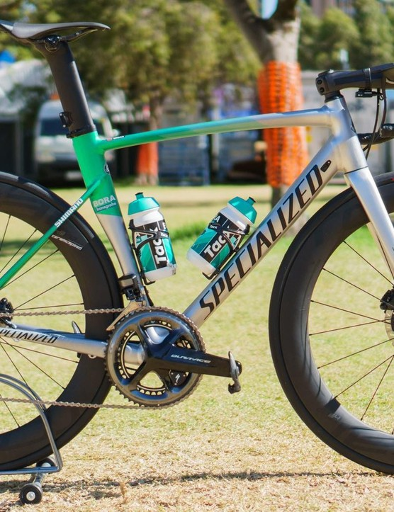 Former world champion Peter Sagan will ride an alloy Specialized Allez Sprint Disc at the Tour Down Under