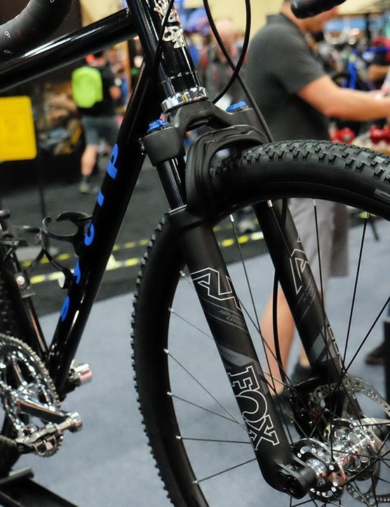 A handful of suspension-equipped gravel bikes were on display at this year's show. This SyCip sports a custom 13-speed cassette