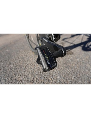 Look Keo Blade Carbon pedals weigh 180g a pair with ti spindles