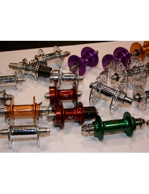 Colourful Phil Wood hubs.