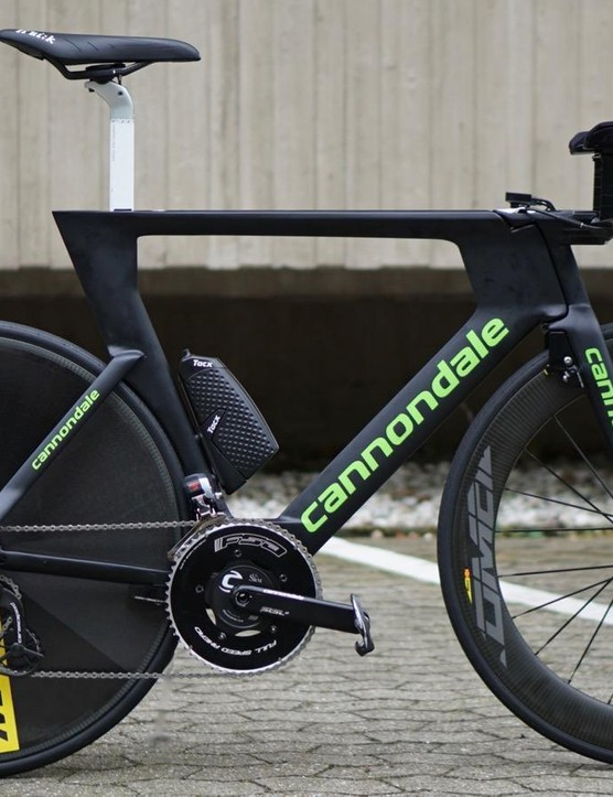 Taylor Phinney's Cannondale Slice has a few unusual things going on
