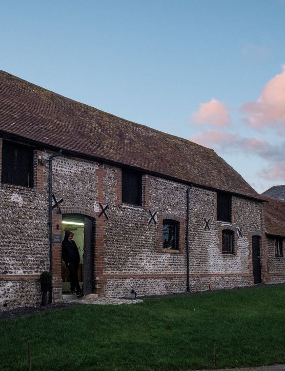 Mason Cycles' HQ is a 300-year-old flint-stoned barn on the outskirts of Brighton, UK