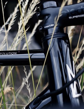 Understated decals on all of Mason's bikes offer a classy finish