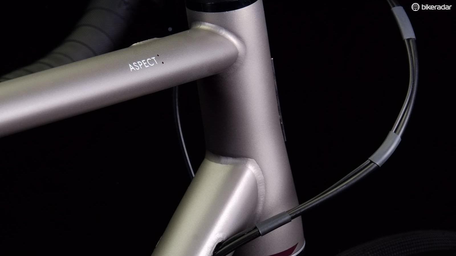 The welds on the Mason Aspect have the high-end finish Mason Cycles are becoming known for