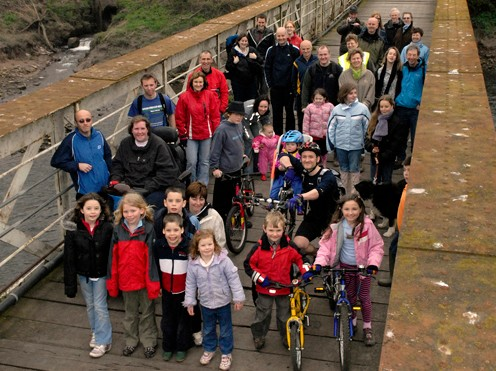 Wye Valley residents have thrown their support behind the cycle path plans