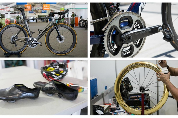 Gold wheels, custom SRMs, homemade shoes and more…