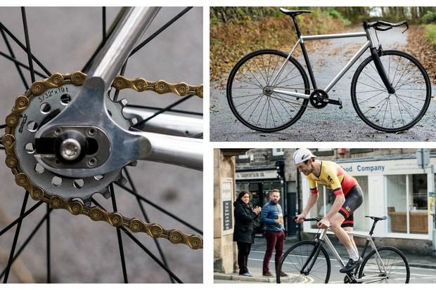 Fixed gear hill climb bike