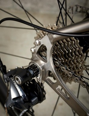 Attention to detail extends to the intricately machined dropouts