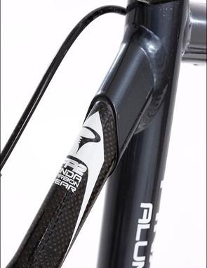 Carbon rear end plugs into the aluminium main frame