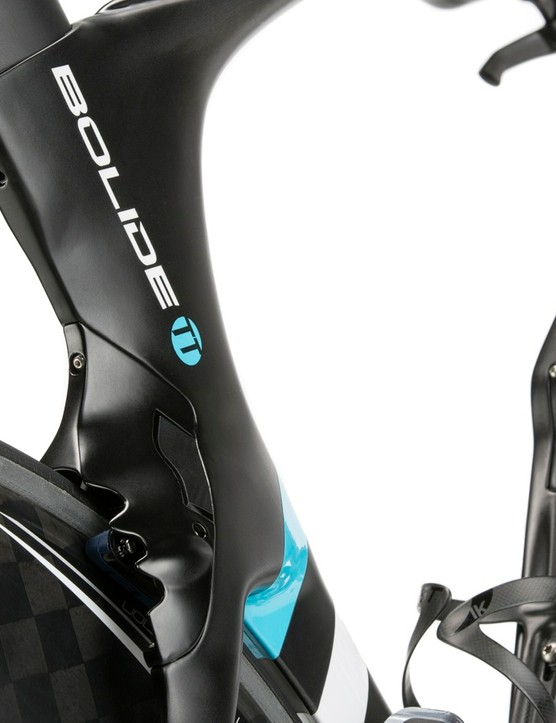 The new Pinarello Bolide TT was overhauled for better aerodynamics and a lower weight