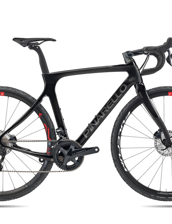 The Crossista is full carbon and shares design features with Pinarello's Dogma road bikes