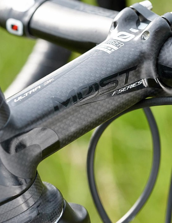 The bar and stem from MOST help to alleviate road vibrations