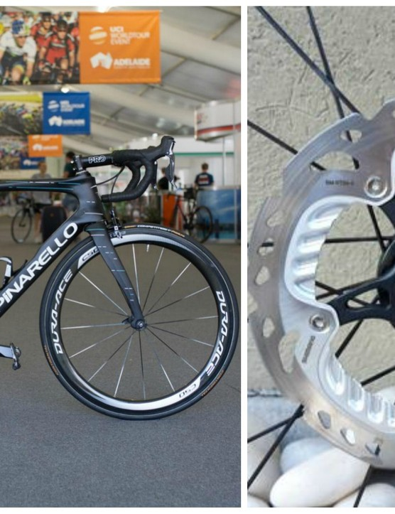 We've just spotted that a disc version of the pictured Pinarello Dogma F10 has made its way onto the UCI's list of approved models