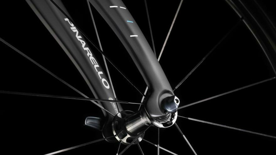 The new fork flaps inspired by the Bollide time trial bike