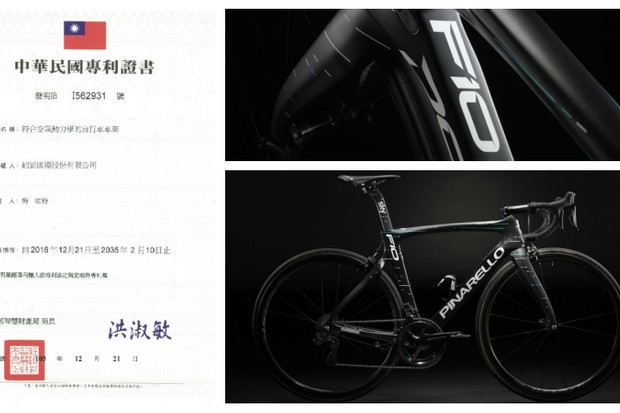 Velocite claim that the new Dogma F10 uses its patented concave downtube design without permission