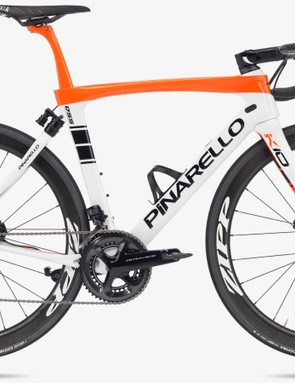 The Pinarello Dogma K10S Disk features electronically controlled rear suspension