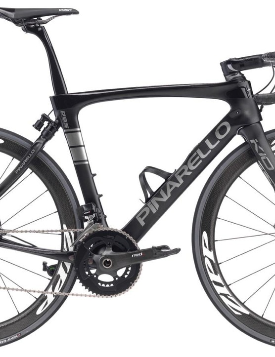 While pricing isn't yet available, Pinarello is showing bikes in top-shelf Shimano, SRAM (shown here) and Campagnolo builds