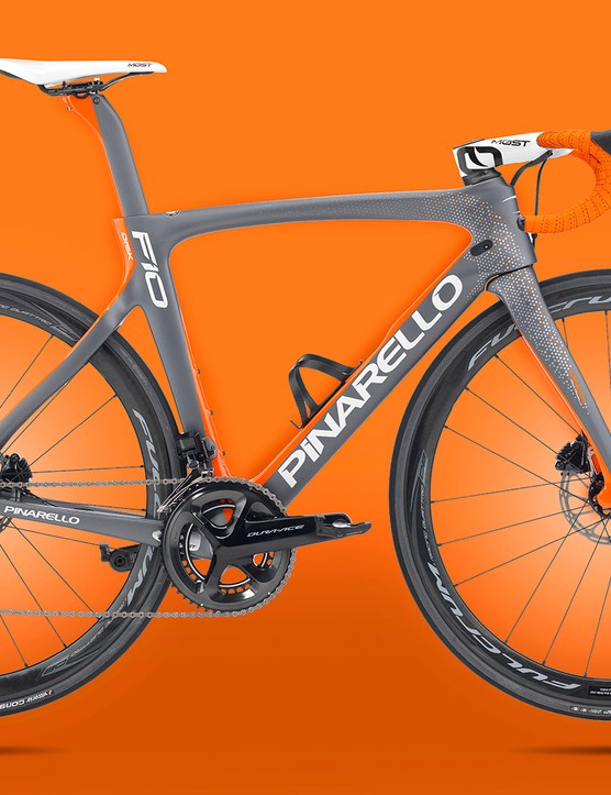 Pinarello held out for a long time, but now offers the F10 with discs