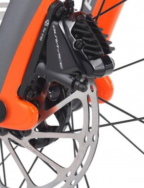 """The """"fork flaps"""" have been modified to work best with flat mount disc brakes"""