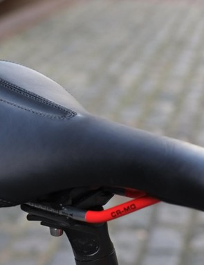 Our tester found the stock saddle to be on the bulky and overpadded side