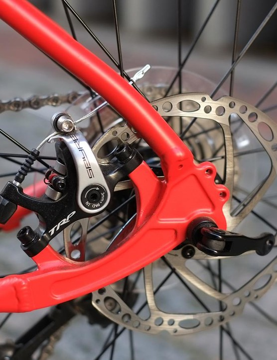 TRP's Spyre disc brakes are some of the better mechanical options, but may feel a little weak if you're used to hydraulic stoppers