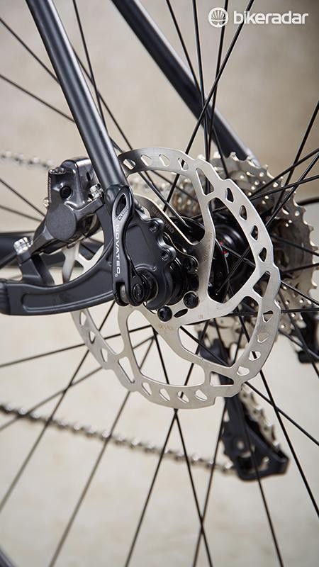 Hydraulic brakes with finned rotors at this price?
