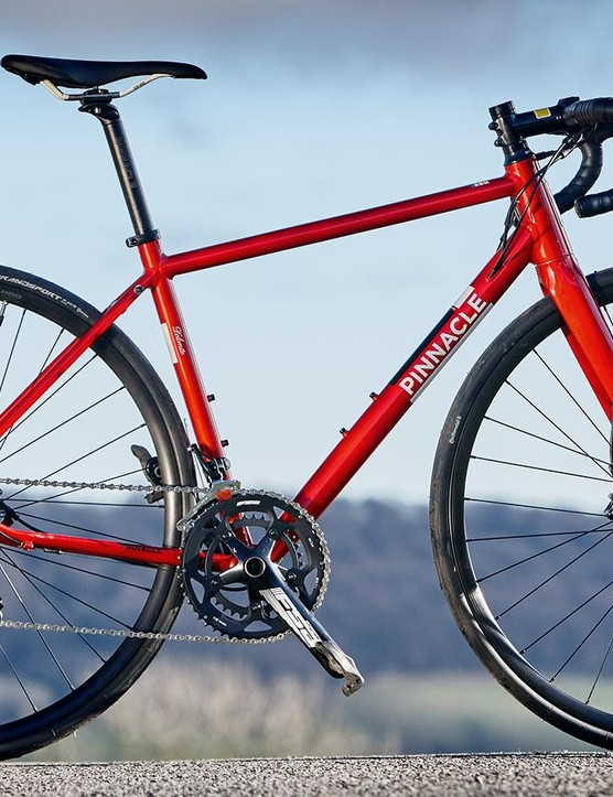 The Pinnacle Dolomite 5 has fittings for a rear rack and front and rear 'guards, with clearance for tyres up to 28mm wide