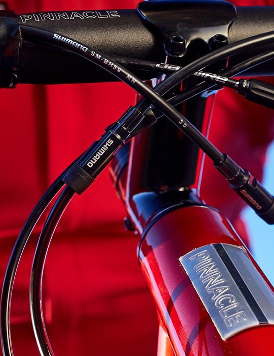 Sizing down and fitting a longer stem gives a racier position