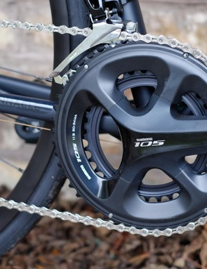 Shimano 105 is a welcome sight at this price