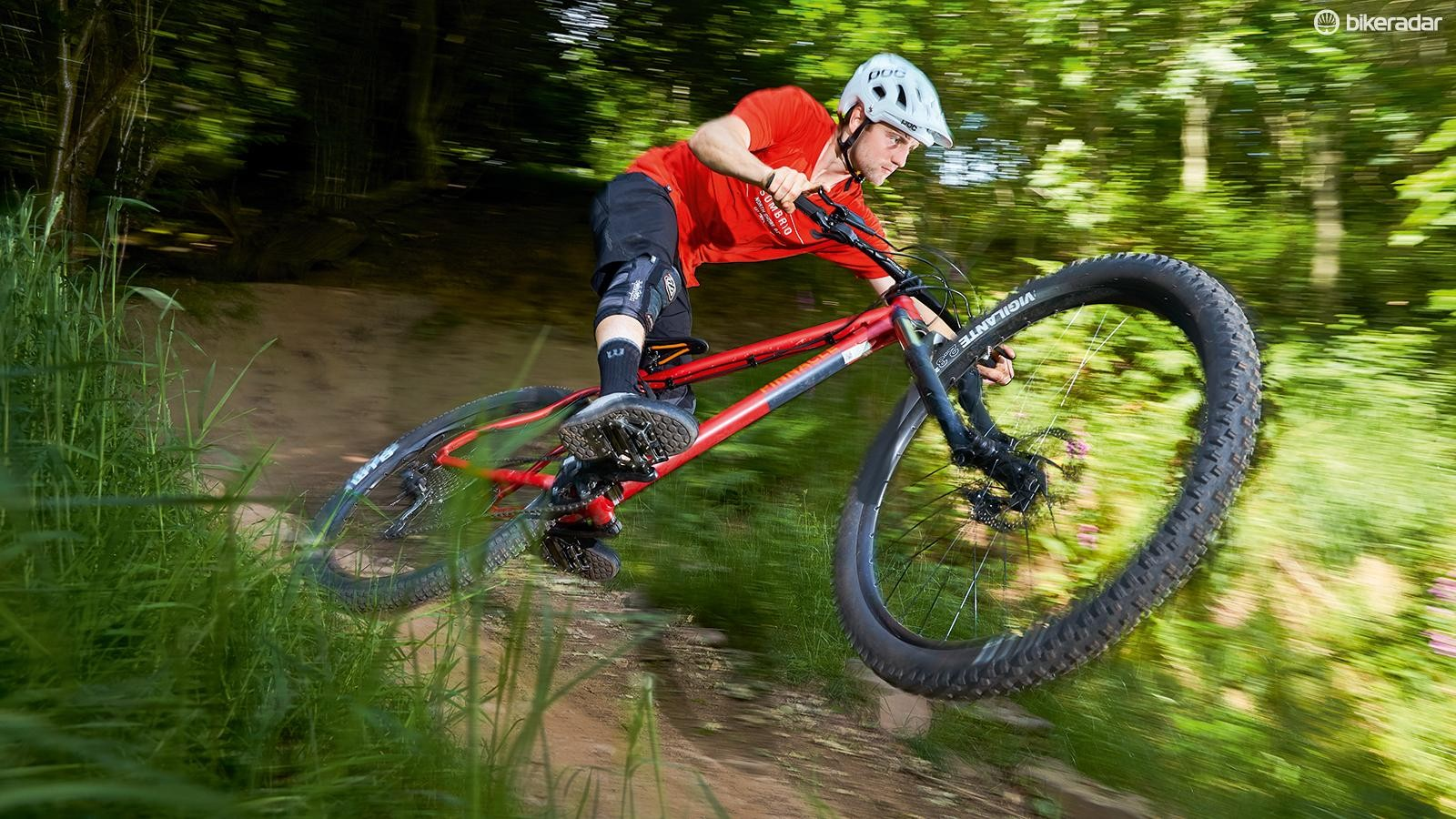 You'll normally only find 35mm stems and 460mm-reach frames on the most progressive full-suspension bikes