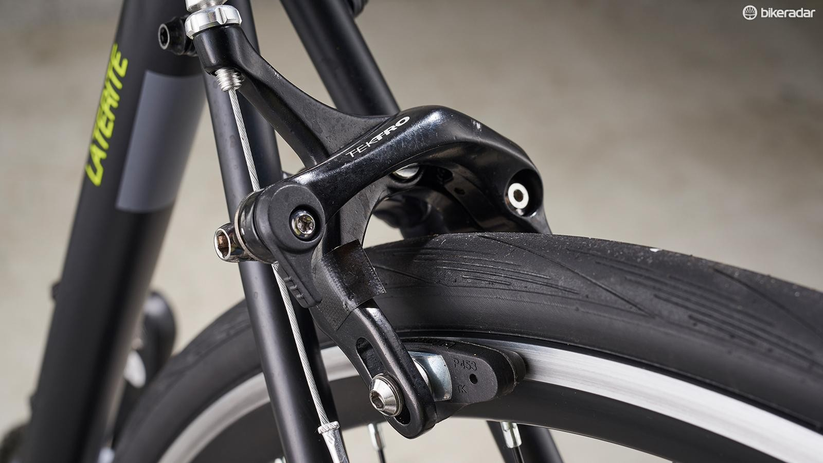I'd swap the moulded brake pads for cartridge versions